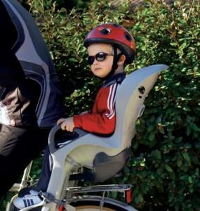 Детское велокресло, крепящееся на багажник является самым грузоподъемным