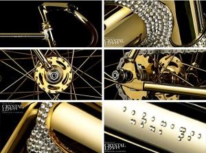 Aurumania Crystal Edition Gold Bike - 4-ое место рейтинга самых дорогих велосипедов мира