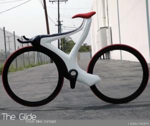Новый футуристический велосипед The Glide оборудован док станцией для смартфонов